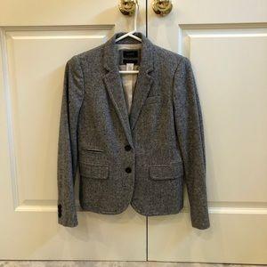 J. Crew Gray Schoolboy Wool Blazer